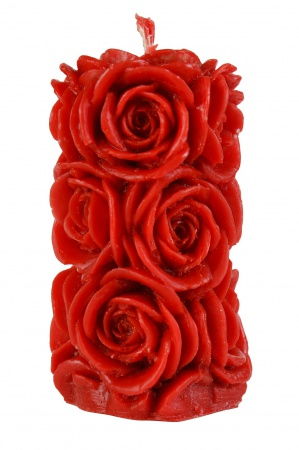 Столбик с розами большой красный
