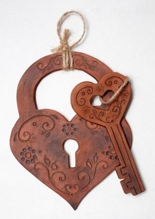Сердце-замок с ключом №1 (большое)